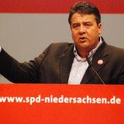 Sigmar Gabriel reprezentujący rząd Niemiec