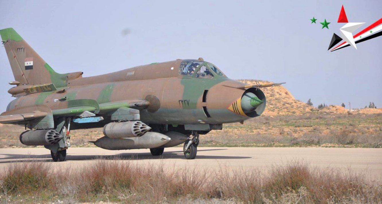 Syryjski Su-22, foto: http://falkeeinsgreatplanes.blogspot.com