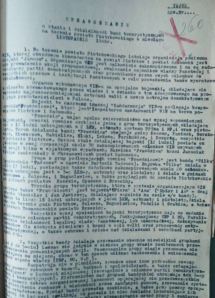 Sprawozdanie jakie przygotował Jaruzelski