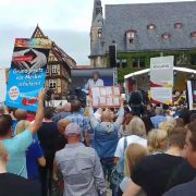 AfD na wiecu Merkel