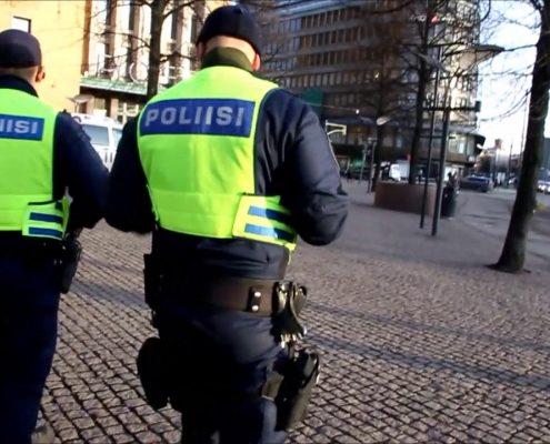 Patrol fińskiej policji