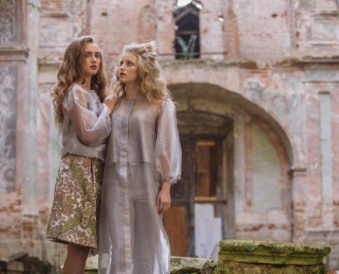 Fotosesja ukraińskich modelek w zrujnowanym polskim kościele niedaleko Lwowa [+FOTO]