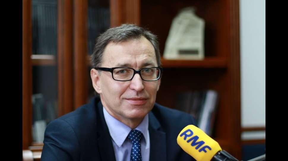 ukraińskich archiwów Prezes IPN, dr Jarosław Szarek, foto: youtube.com