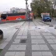 Mężczyzna podpalił się pod Pałacem Kultury w proteście przeciw PiS - zostawił list [+FOTO LISTU]