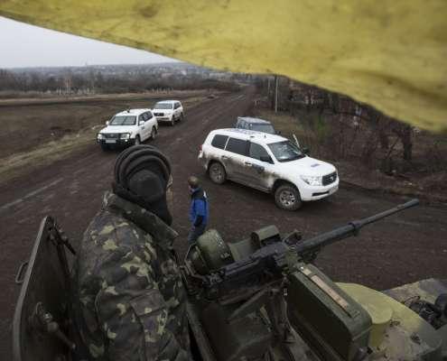 Obserwatorzy OBWE na wschodniej Ukrainie, foto: flickr.com w Donbasie