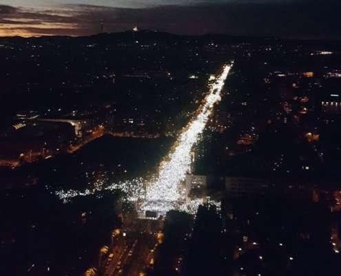 Hiszpania: minimum 750 tys. osób na ulicy żądało uwolnienia katalońskich polityków [+FOTO]