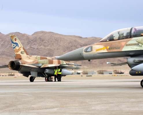 strefie Gazy Premier Izraela nalotu