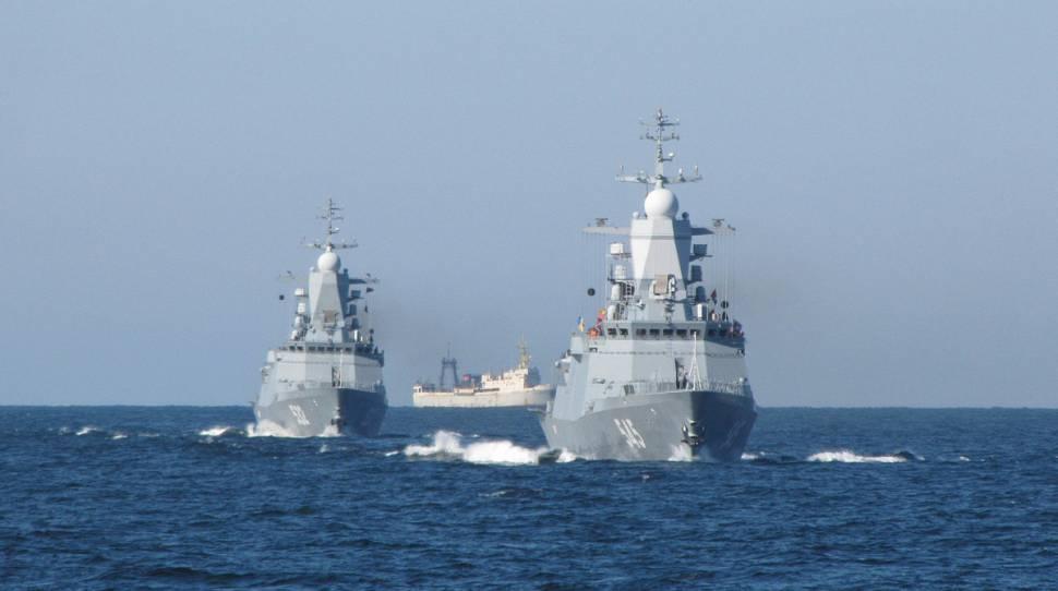 morzu śródziemnym Marynarka Manewry rosyjskiej marynarki wojennej na Morzu Bałtyckim
