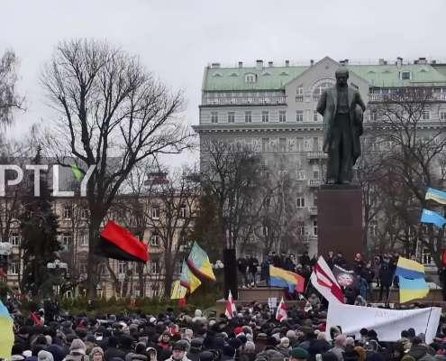 Ukraina: Ulicami Kijowa przeszły tysiące zwolenników Saakaszwilego [+VIDEO]