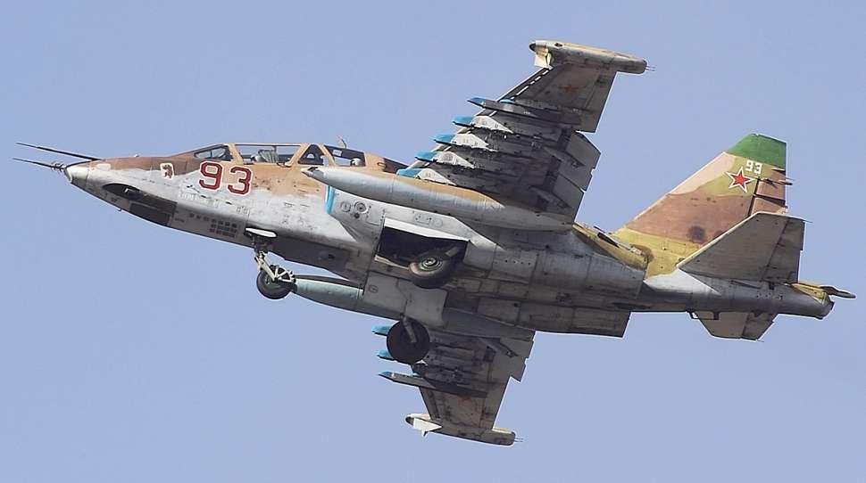 Syria: Zestrzelono rosyjski samolot szturmowy Su-25 [+VIDEO]