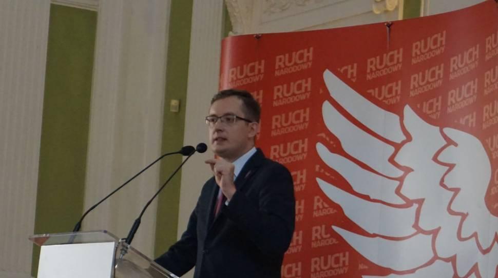 Winnicki na kongresie RN: PiS pełza przed banderowcami, środowiskami żydowskimi i Unią