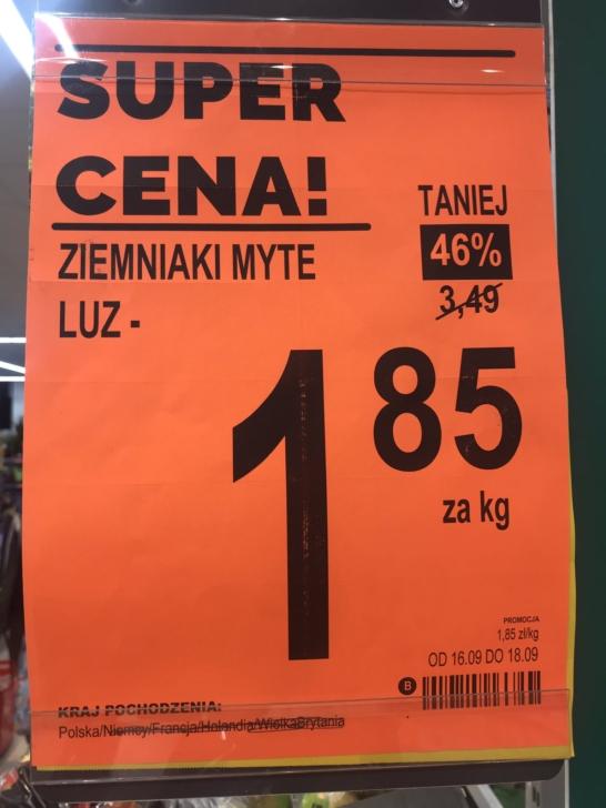 Biedronka sprzedawała ziemniaki z Niemiec jako Polskie. Rolnicy: to celowe działanie Ziemniaki Biedronka 2