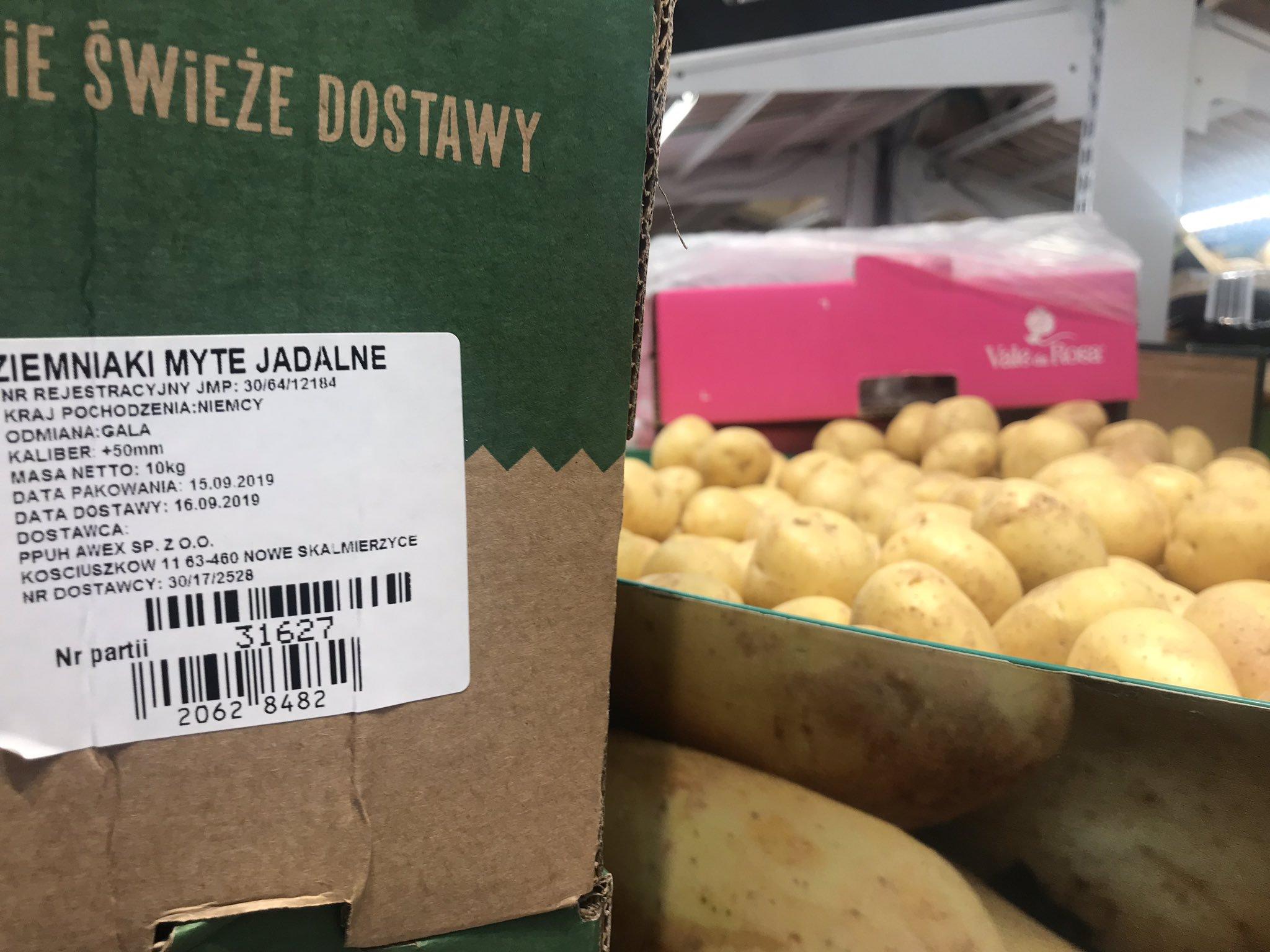 Biedronka sprzedawała ziemniaki z Niemiec jako Polskie. Rolnicy: to celowe działanie Ziemniaki Biedronka 3