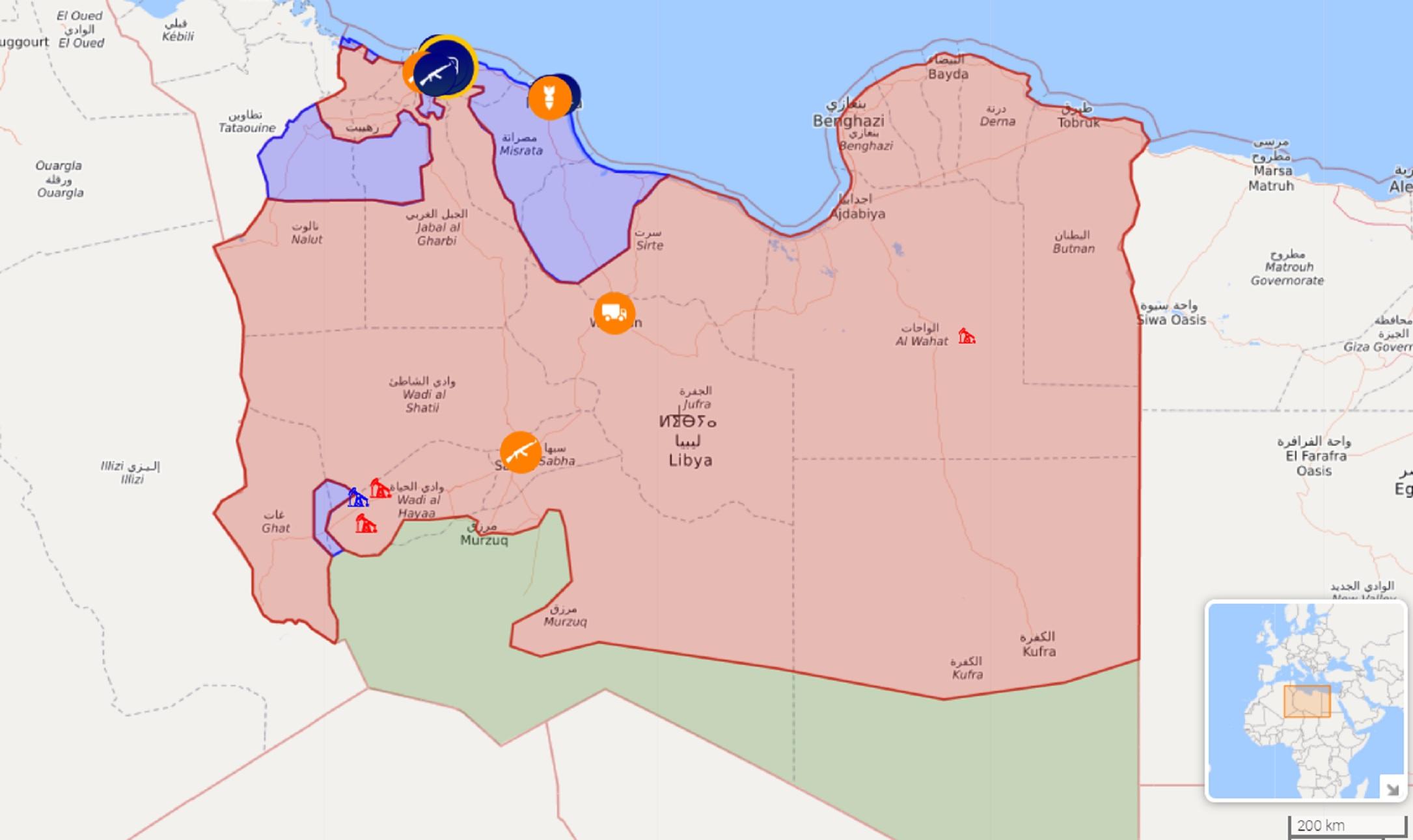Turcja Uzgadnia Z Rosja Swoja Interwencje W Libii Mapa Kresy