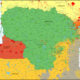 Mapa etniczna Litwy, fot. Reddit.com