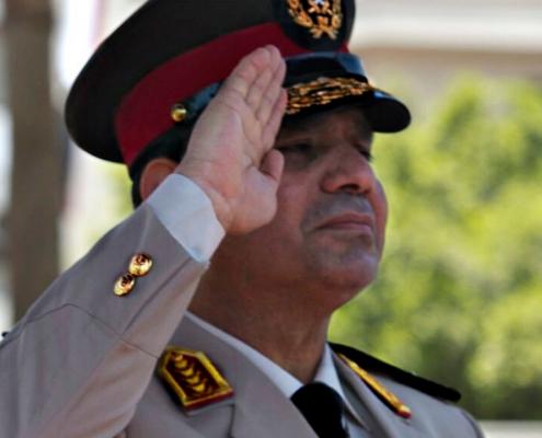 ilustracyjne fot: wikipedia.org/Sisi jako minister obrony Egiptu