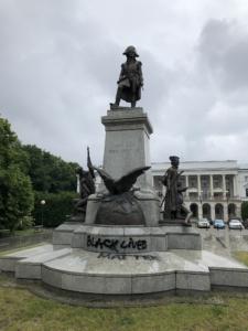 Pomnik Tadeusza Kościuszki w Warszawie, źr. Twitter