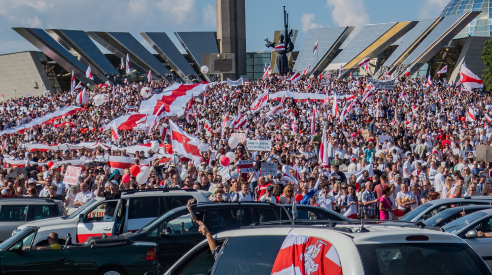 Wielka manifestacja przeciwników Łukaszenki, 16.08.20, fot. Wikipedia.org